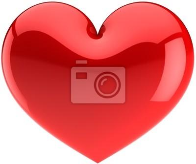 Icono de corazón rojo. Te Amo símbolo clásico (Hi-res)