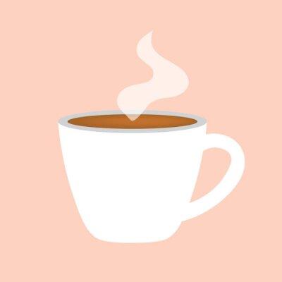 Cuadro Icono de taza de café caliente-ilustración vectorial