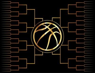 Cuadro Icono y soporte de oro del baloncesto