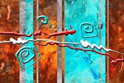 Cuadro Ilustración abstracta de pintura al óleo