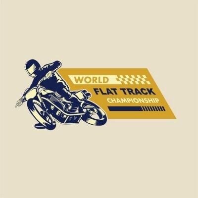 Cuadro ilustración de corredor de pista plana