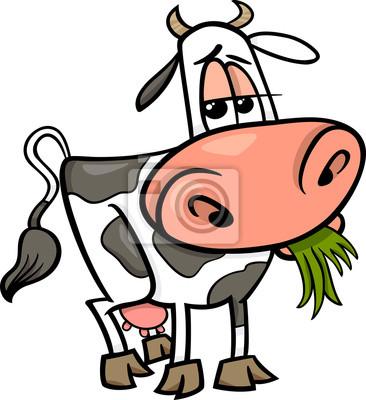 Ilustración de dibujos animados de animales de granja de la vaca ...