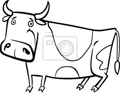 Ilustración de dibujos animados de la vaca de la granja para ...