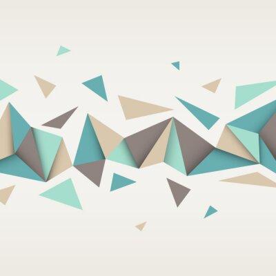 Cuadro Ilustración de la textura abstracto con triángulos.