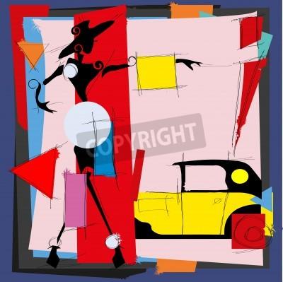 Cuadro Ilustración de moda en el estilo del cubismo