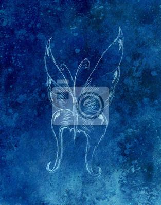Ilustración De Una Mariposa Dibujo De Lápiz Fondo Abstracto