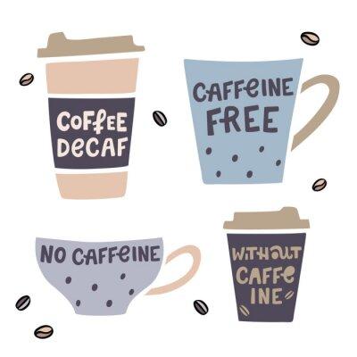 Cuadro Ilustración de vector de café descafeinado