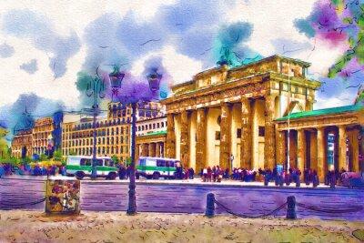 Cuadro Ilustración del arte de Berlín