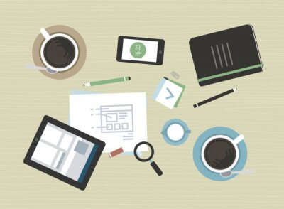 Cuadro Ilustración plana de reunión de negocios moderno