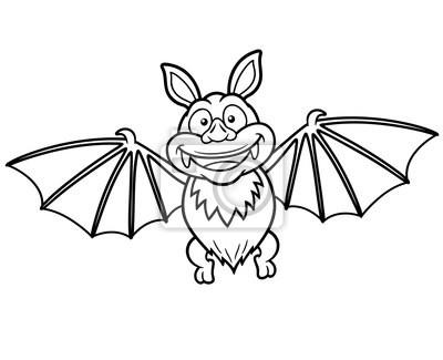 Ilustración Vectorial De Murciélago De Dibujos Animados Libro