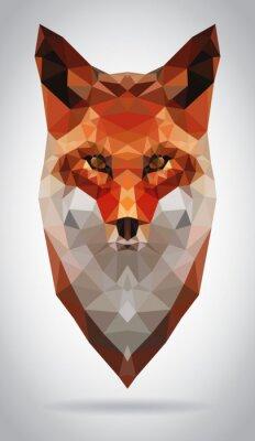 Cuadro Ilustración vectorial Fox cabeza aislado moderno geométrico