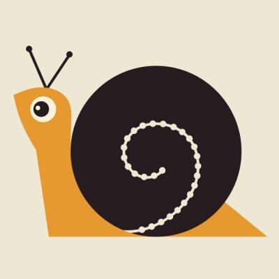 Cuadro Ilustración vectorial Snail