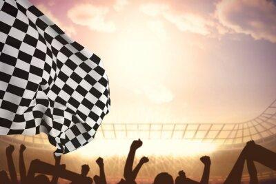 Cuadro Imagen compuesta de bandera a cuadros