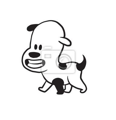 Imagen De Dibujos Animados De Vector De Un Perro Negro