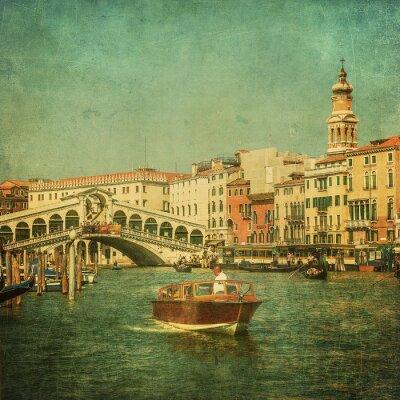 Cuadro Imagen del vintage del Gran Canal, Venecia