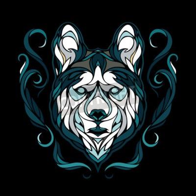 Cuadro Imagen vectorial de un perro husky siberiano