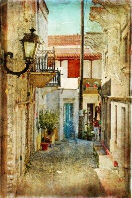 imágenes antiguas griegas calles-artístico