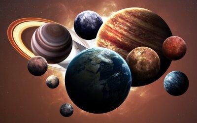 Cuadro Imágenes de alta resolución presentan planetas del sistema solar. Esta imagen de elementos proporcionados por la NASA