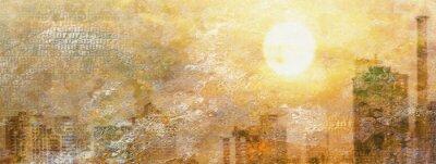 Cuadro Impresión City Sun