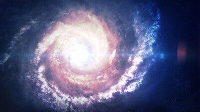 Cuadro Increíblemente hermosa galaxia espiral en algún lugar del espacio profundo. Elementos de esta imagen proporcionados por la NASA