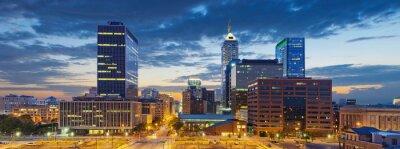 Cuadro Indianápolis. Imagen de la ciudad de Indianápolis al atardecer.