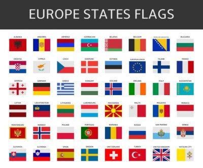 Cuadro indicador de Europa afirma conjunto de vectores