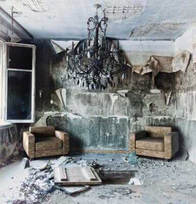 Cuadro interior abandonado
