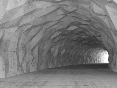 Cuadro Interior del túnel 3d con alivio poligonal caótico