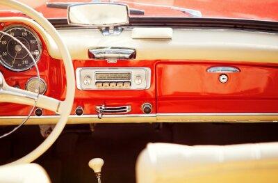 Cuadro interno auto vintage