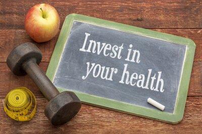 Cuadro Invierta en su consejo de la salud en la pizarra