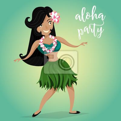Invitación Hawaiana Del Partido De La Hawaiana Con La