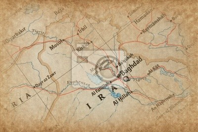 Cuadro Iraq en el Mapa