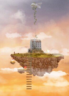 Cuadro Isla en el cielo