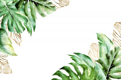 Cuadro Isolated tropic palm leaves frame