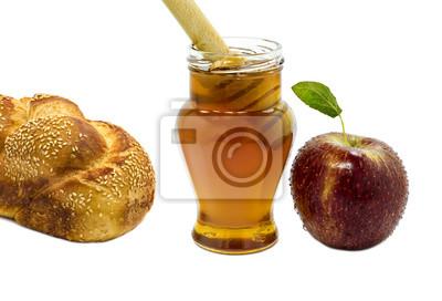 Jalá, la miel y la manzana son símbolos de las fiestas judías