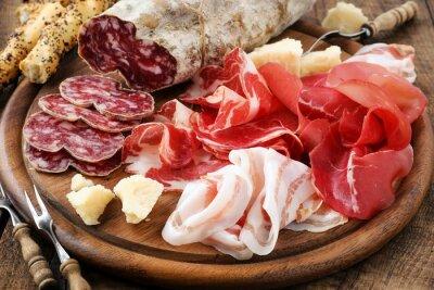 Cuadro Jamón Prosciutto, bresaola, panceta, salame y queso parmesano