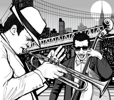 Cuadro jazz en Nueva York