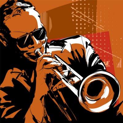 Cuadro Jazz trompetista