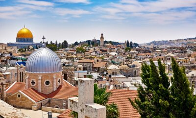 Cuadro Jerusalem panoramic roof view