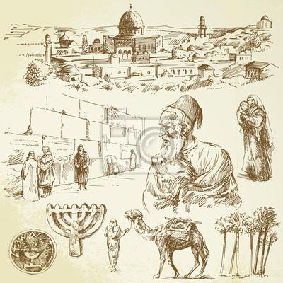 Jerusalén - conjunto de dibujado a mano