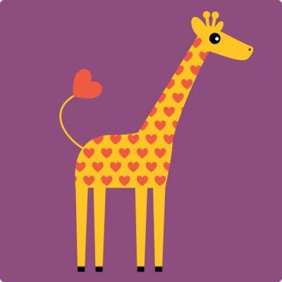 Cuadro jirafa vector