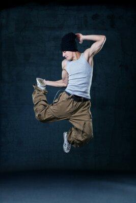 Cuadro Joven hip-hop Bailarín de salto