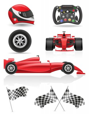 Cuadro juego de carreras de iconos ilustración vectorial EPS 10