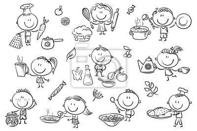 Juego De Cocina Para Ninos Pinturas Para La Pared Cuadros Figura