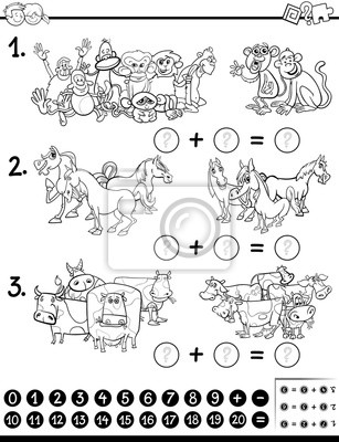 Juego De Matemáticas Para Colorear Pinturas Para La Pared Cuadros