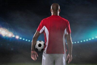 Cuadro Jugador con balón de fútbol