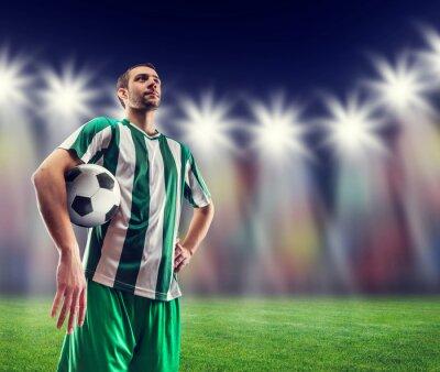 Cuadro Jugador de fútbol con una pelota