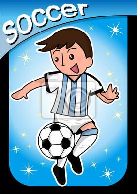Jugador de fútbol de dibujos animados pinturas para la pared ... 39bf6762a462c