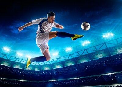 Cuadro Jugador de fútbol en acción