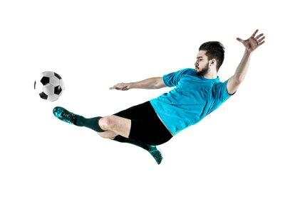 Cuadro Jugador de fútbol Hombre aislado